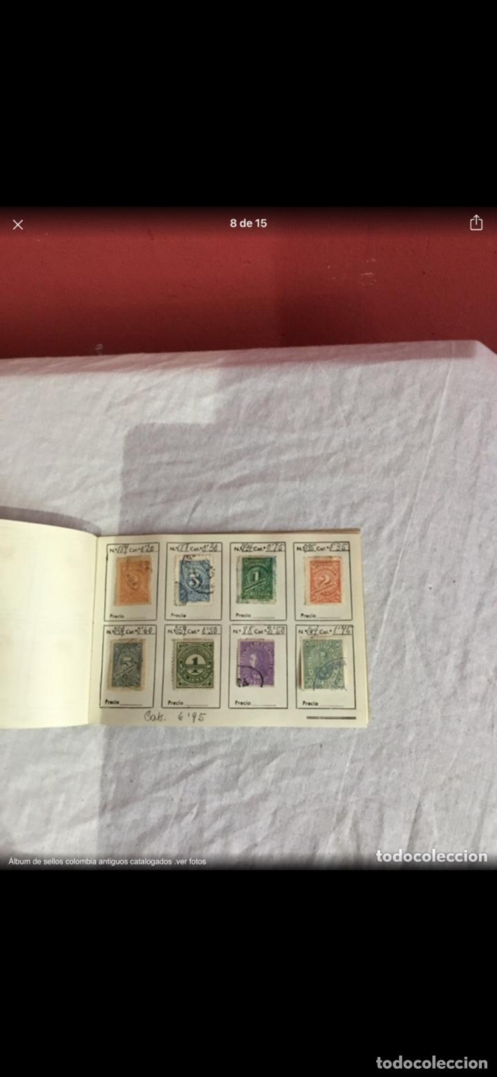 Sellos: Precioso álbum de 100 sellos clasificados colombia antigua completo . Alta coleccion. Ver fotos - Foto 8 - 253838140