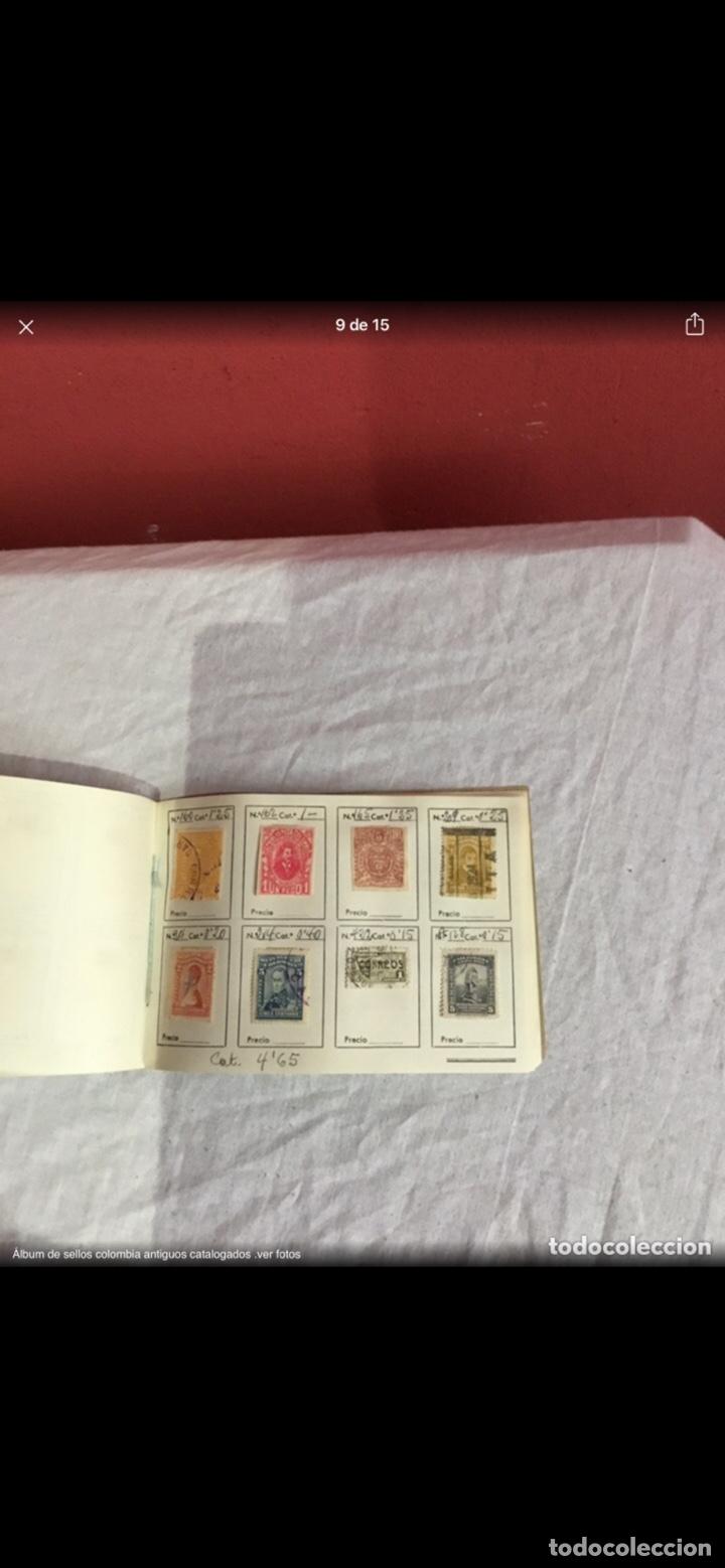 Sellos: Precioso álbum de 100 sellos clasificados colombia antigua completo . Alta coleccion. Ver fotos - Foto 9 - 253838140