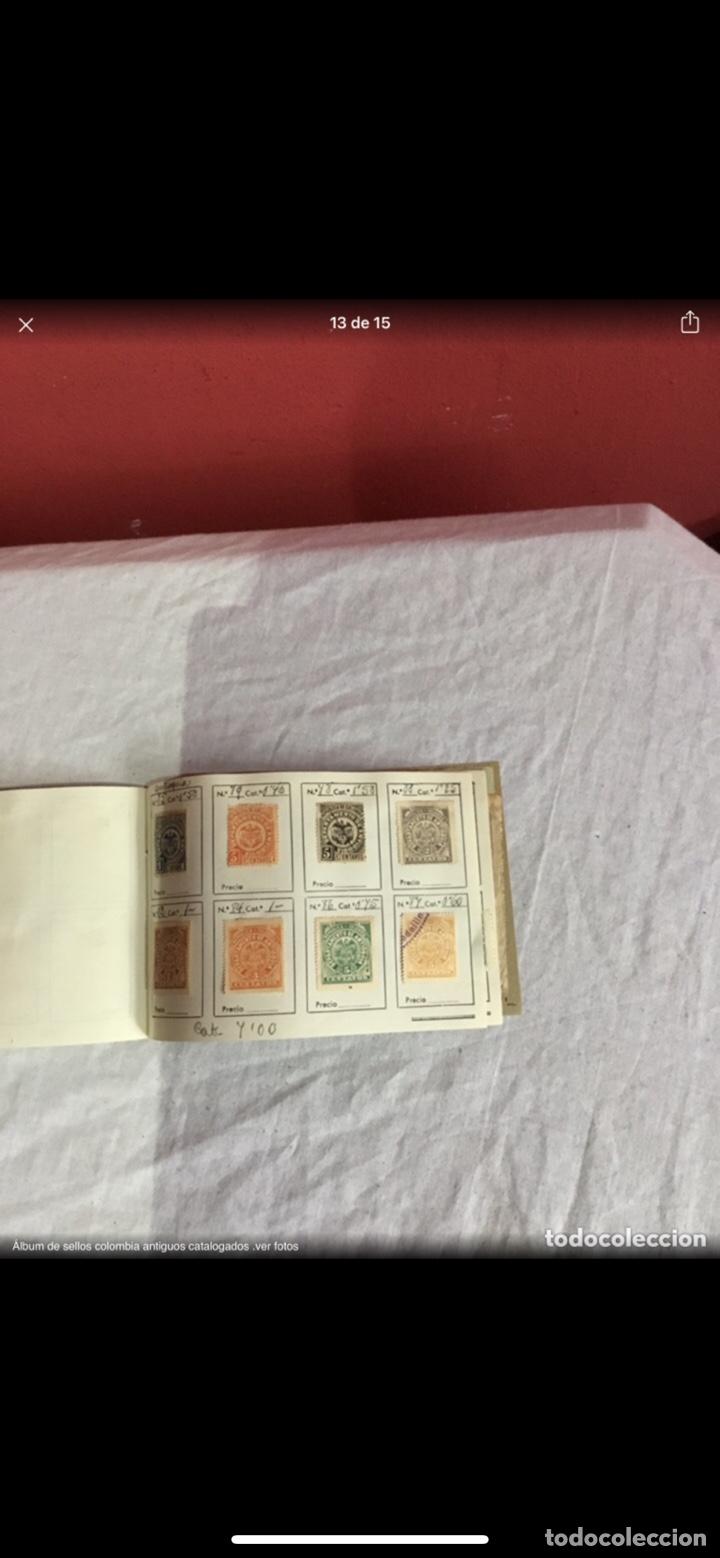 Sellos: Precioso álbum de 100 sellos clasificados colombia antigua completo . Alta coleccion. Ver fotos - Foto 13 - 253838140