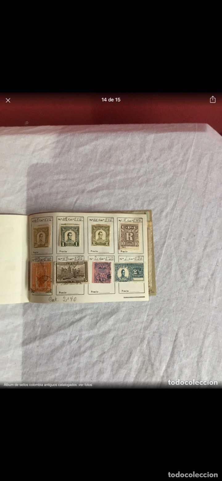 Sellos: Precioso álbum de 100 sellos clasificados colombia antigua completo . Alta coleccion. Ver fotos - Foto 14 - 253838140