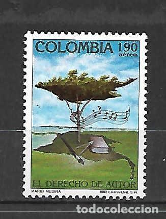 EL DERECHO DE AUTOR. MÚSICA. COLOMBIA. SELLO AÑO 1992 (Sellos - Extranjero - América - Colombia)
