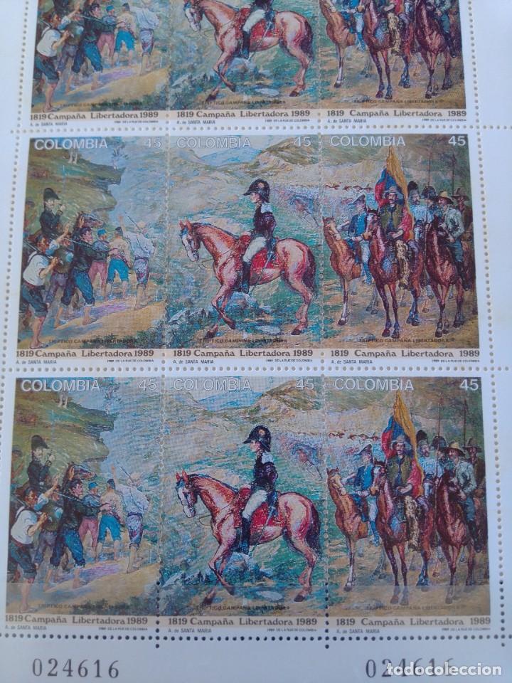 Sellos: Hoja completa sellos Colombia centenario 170 aniversario campaña libertadora - Foto 3 - 272753398