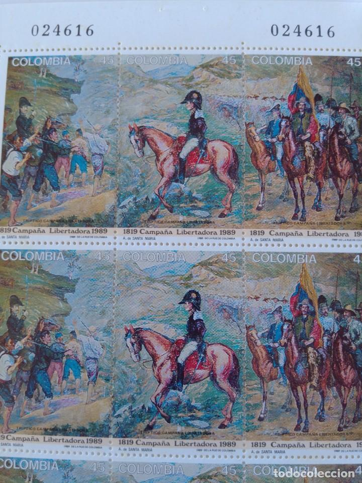 Sellos: Hoja completa sellos Colombia centenario 170 aniversario campaña libertadora - Foto 4 - 272753398