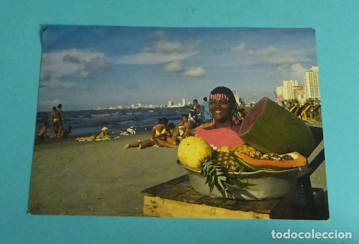 Sellos: POSTAL PLAYAS DE BOCAGRANDE. CARTAGENA. COLOMBIA. SELLO MITOS Y LEYENDAS - Foto 2 - 273735788