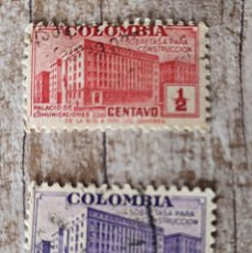 Sellos: 2 SELLOS USADOS COLOMBIA. Lote 278522793
