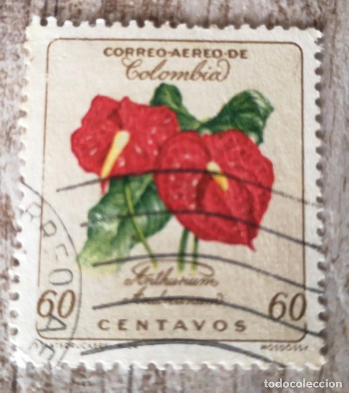 COLOMBIA FLOR, SELLO 1960 (Sellos - Extranjero - América - Colombia)
