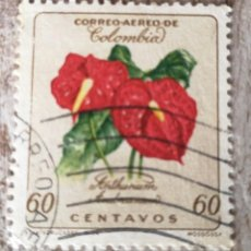 Sellos: COLOMBIA FLOR, SELLO 1960. Lote 278528768
