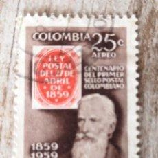 Sellos: COLOMBIA FLOR, SELLO 1960. Lote 278528883