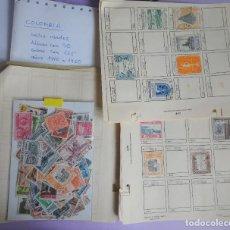 Sellos: LOTE DE 215 SELLOS DE COLOMBIA, 1940-1960, VER FOTOS. Lote 286317338