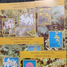 Sellos: O) 2003 COLOMBIA, ORQUIDES, MASDEVALLIA, MILTONIOPSIS, ODONTOGLOSSUM, MACRURA, CIMBIDIUM, ONCIDIUM,. Lote 287355763