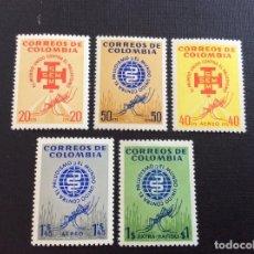 Sellos: COLOMBIA Nº YVERT 601/2+ A 408/0** AÑO 1962. MEDICINA. ERRADICACION DEL PALUDISMO. CON CHARNELA. Lote 288291043