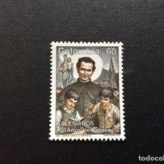Sellos: COLOMBIA Nº YVERT 959*** AÑO 1990. RELIGION. CENTENARIO PRESENCIA DE LOS SALESIANOS. Lote 288291173