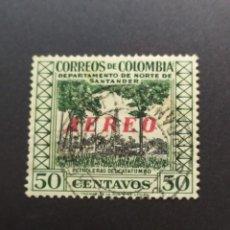 Sellos: ## COLOMBIA USADO 1956 RESELLO AEREO 50C##. Lote 288328088