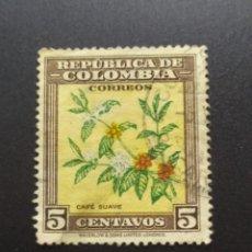 Sellos: ## COLOMBIA USADO 1948 NATURALEZA 5C##. Lote 288329513
