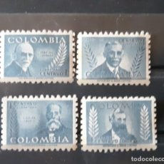Sellos: COLOMBIA,1952, CAT.YT.460/463.. Lote 288950628