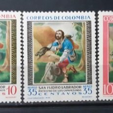Sellos: COLOMBIA,1960,CAT.YT.586 Y PA.378/379. Lote 289232698