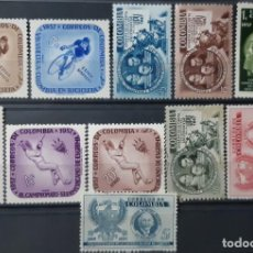 Sellos: COLOMBIA,1957,CAT.YT.544/546 Y PA.296,297,301,302,303,304. Lote 289234478