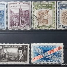 Sellos: COLOMBIA,1958,CAT.YT.550/551, 547. Y PA.305/307.. Lote 289235588