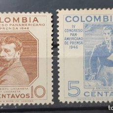 Sellos: COLOMBIA,1947,CAT.YT.412/413.. Lote 289236073