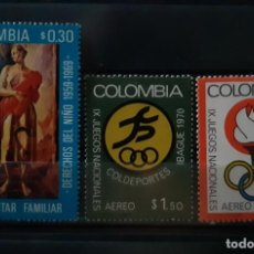 Sellos: COLOMBIA,1970,CAT.YT.648 Y PA.506/507.. Lote 289243883