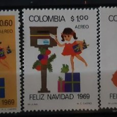 Sellos: COLOMBIA,1969,CAT.YT.PA.502/504.. Lote 289247273