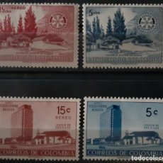 Sellos: COLOMBIA,1955,CAT.YT.503/504 Y PA.273/274.. Lote 289247923
