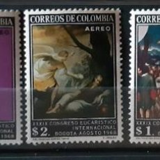 Sellos: COLOMBIA,1968, CAT.YT.PA.483/487.. Lote 289249478