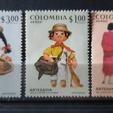 Sellos: COLOMBIA,1972, CAT.YT. PA. 547/549.. Lote 289251993