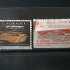 Sellos: COLOMBIA,1960, CAT.YT. PA. 345/346.. Lote 289252553