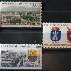 Sellos: COLOMBIA,1961, CAT.YT. 592/593 Y PA.393/394.. Lote 289253018