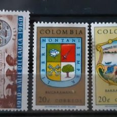 Sellos: COLOMBIA,1961, CAT.YT. 594/596 Y 590/591.. Lote 289253778