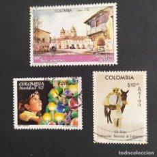 Sellos: ## SELLO USADO COLOMBIA 3 SELLOS ##. Lote 291535193