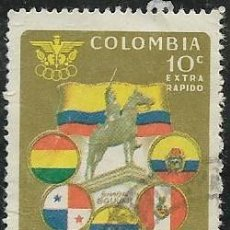 Sellos: COLOMBIA AÉREO YVERT 406, DEPORTES. Lote 294910658