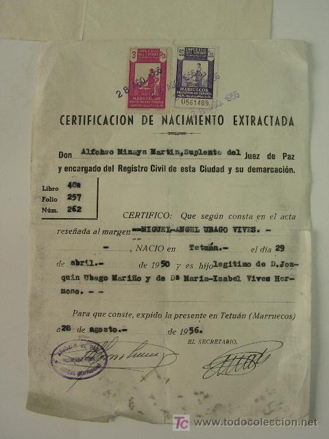 marruecos español. sellos fiscales en partida - Comprar Sellos de ...