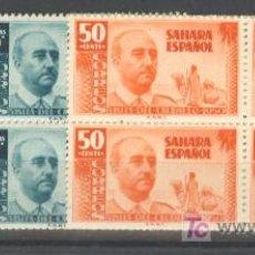 Sellos: SA88-2299.SAHARA ESPAÑOL.FRANCO.1951.(ED 88/0** BL4) SIN CHARNELA..LUJO . Lote 18622395