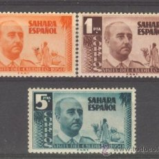Sellos: SA88-L22991TAN.MAROC .MAROCCO.SAHARA ESPAÑOL.FRANCO .1951.(ED 88/90**)SIN CHARNELA.MUY BONITOS . Lote 20707572
