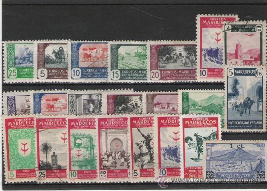MARRUECOS BONITO LOTE DE SELLOS (Sellos - España - Colonias Españolas y Dependencias - África - Marruecos)