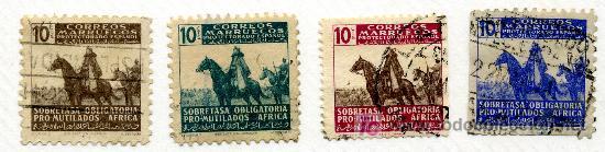 BENEFICENCIA 32/35*** - AÑO 1945 - PRO MUTILADOS AFRICA (LOS DE LA FOTO9 (Sellos - España - Colonias Españolas y Dependencias - África - Otros)