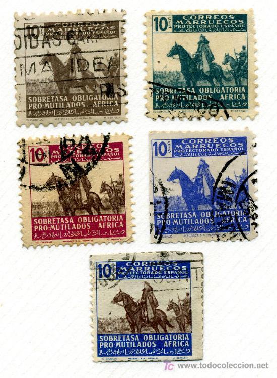BENEFICENCIA 32/35*** - AÑO 1945 - PRO MUTILADOS AFRICA (LOS DE LA FOTO) (Sellos - España - Colonias Españolas y Dependencias - África - Otros)