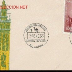 Sellos: BONITO SOBRE DEL SAHARA AYUDA A SEVILLA . Lote 4828447