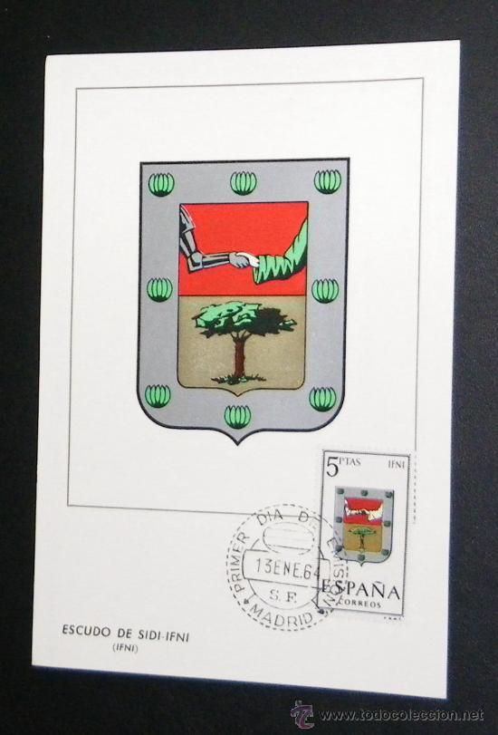 TARJETA. ESCUDO DE SIDI-IFNI (IFNI). 1964. (Sellos - España - Colonias Españolas y Dependencias - África - Ifni)
