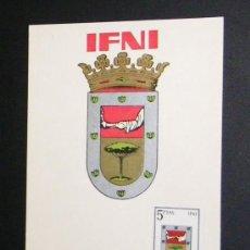 Sellos: TARJETA. ESCUDO DE IFNI. 1964.. Lote 173161489