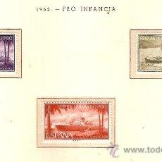 Sellos: FERNANDO POO EDIFIL Nº 207-209 PRO INFANCIA 1962 FIJASELLOS . Lote 13992145