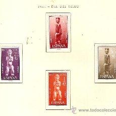 Sellos: EDIFIL Nº 25-28 RIO MUNI DIA DEL SELLO 1961 SEÑAL FOJASELLOS . Lote 14014659
