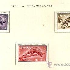 Sellos: EDIFIL Nº 47-49 RIO MUNI PRO INFANCIA 1964 SEÑAL DE FIJASELLSO . Lote 14014719