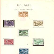 Sellos: EDIFIL Nº 48-56 RIO MUNI FAUNA EQUATORIAL 1964 SEÑAL FIJASELLOS . Lote 26299821
