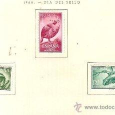Sellos: EDIFIL Nº 57-59 RIO MUNI DIA DEL SELLO 1964 SEÑAL DE FIJASELLOS . Lote 14014764