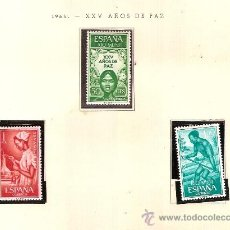 Sellos: EDIFIL Nº 60-62 RIO MUNI XXV AÑOS DE PAZ 1965 SEÑAL FIJASELLOS . Lote 14014768