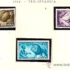 Sellos: EDIFIL Nº 69-71 RIO MUNI PRO INFANCIA 1966 NUEVO . Lote 14014801