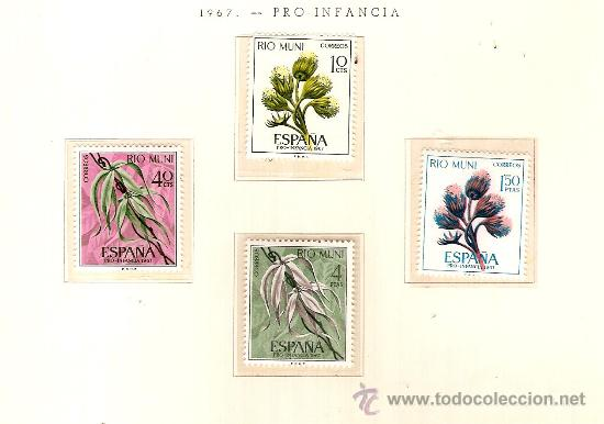 EDIFIL Nº 76-79 RIO MUNI PRO INFANCIA 1967 NUEVO (Sellos - España - Colonias Españolas y Dependencias - África - Río Muni)
